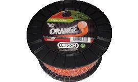 Žací struna oranžová kulatá 2,4 mm x 87m