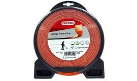 Žací struna oranžová čtverec 3,0 mm x 44m