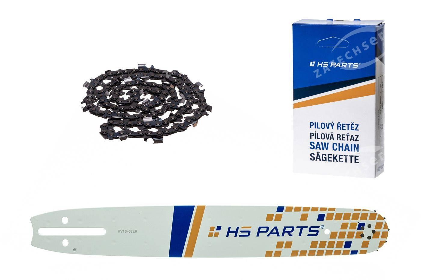 """HS PARTS Vodiaca líšta 16""""(40cm) + reťaz hranatý zub .3/8"""" 1,5mm 60 čl. pre Husqvarna"""