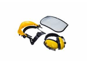 Sieťový tvárový štít s chráničmi sluchu